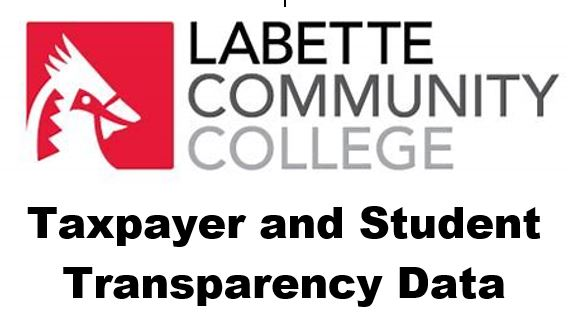 LCC Taxpayer and Student Transparency Data